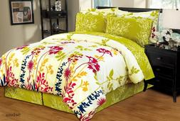 Ultra Soft 8 PC Reversible Bed in a Bag Comforter Set