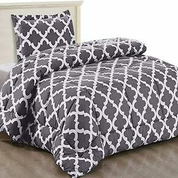 Utopia Bedding Printed Comforter Set  with 1 Pillow Sham - L