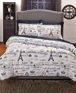 VINTAGE PARIS COMFORTER SET`EUROPEAN CHARM BEDDING SET INDOO
