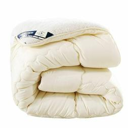 Warm Comforter/Duvet/Blanket Lamb Down Fabric Filling King Q