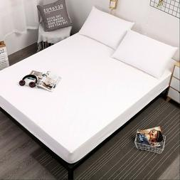 Waterproof Fitted Bed Mattress Protector Sheet Pad Cover Com