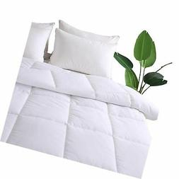 DECROOM White Comforter Set Full Queen Size, 2 Bonus Pillow