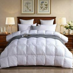 White Goose Down Comforter 1000TC PONGEE Fabric  All Seasons