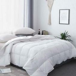 White Goose Down Comforter All Season Queen Size Hotel Light