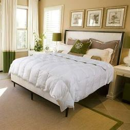 White Goose Down Comforter--Luxurious All Seasons-Queen Size
