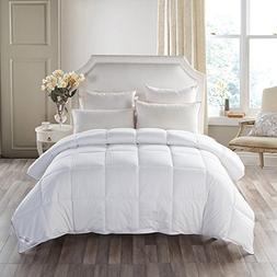 MedMedium Weight White Goose Down Feather Comforter Warmth D