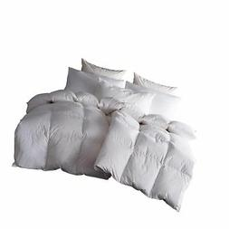 SNOWMAN White Goose Down & Feather Blend Comforter Queen Siz