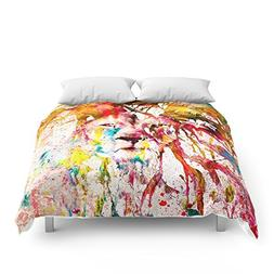 Society6 Wild Lion Sketch Abstract Watercolor Splatters Comf
