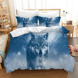 Wolf Animal 3d Bedding Set Duvet Covers Set Pillowcases Home