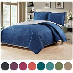 Woven Trends Medallion 3PC Luxury Comforter Quilt Bed Set Re