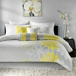 yellow floral queen comforter set